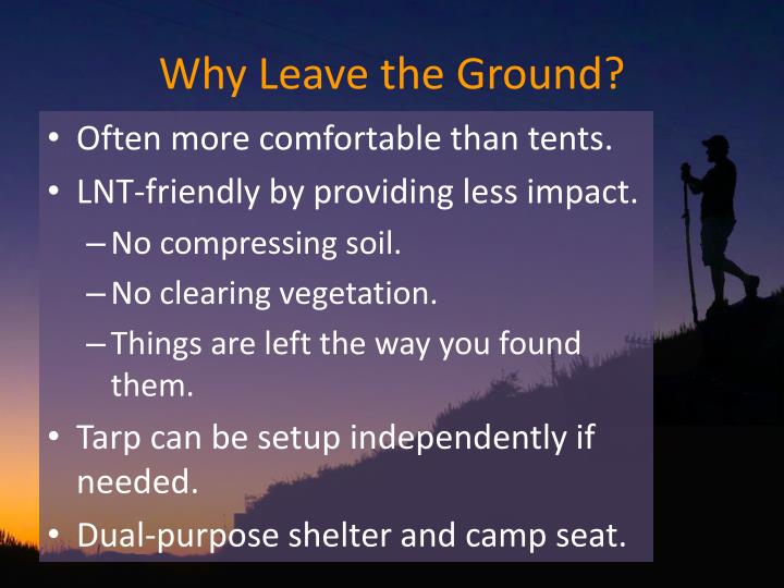 Why leave the ground