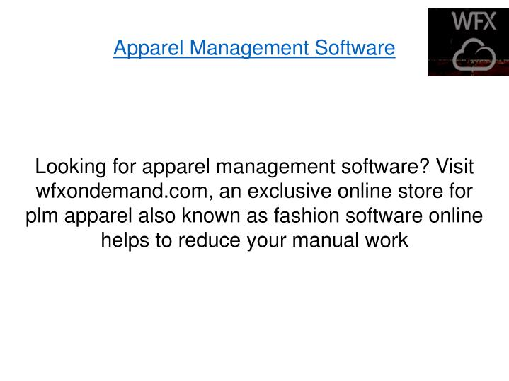 Apparel Management Software