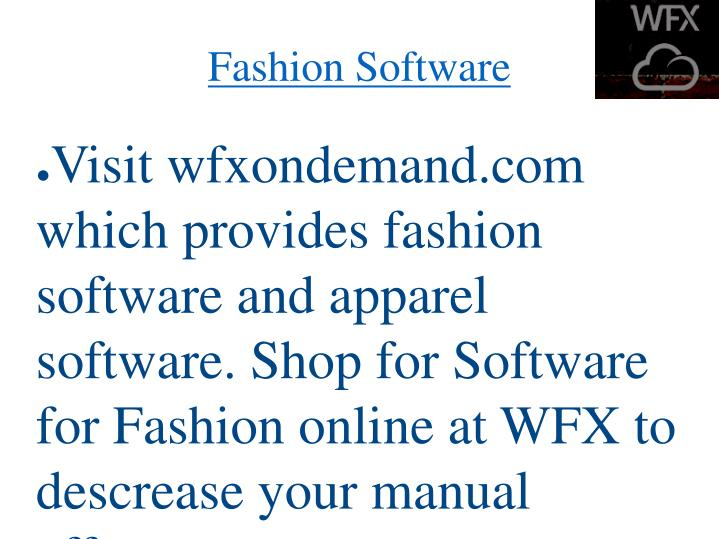 Fashion software