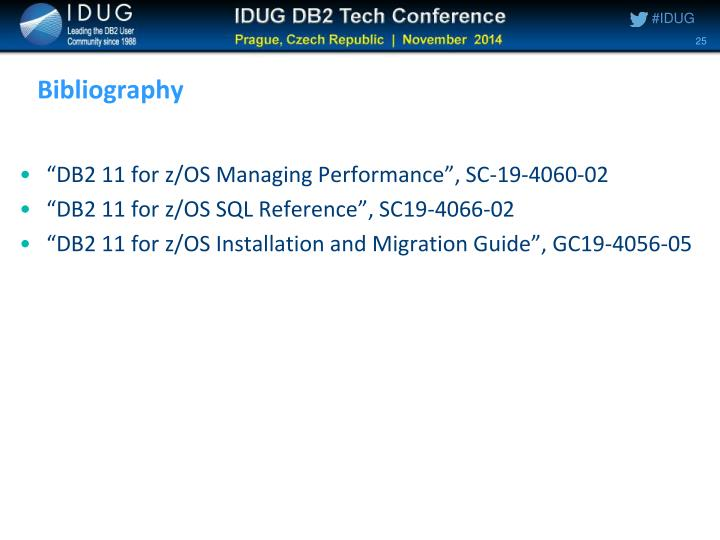 """DB2 11 for z/OS Managing Performance"", SC-19-4060-02"