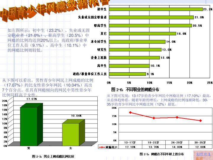 中国青少年网瘾数据报告