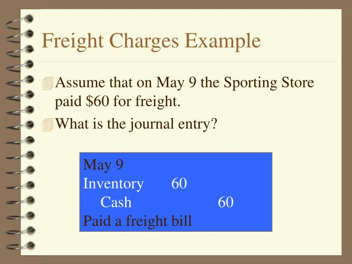 Freight Charges Example