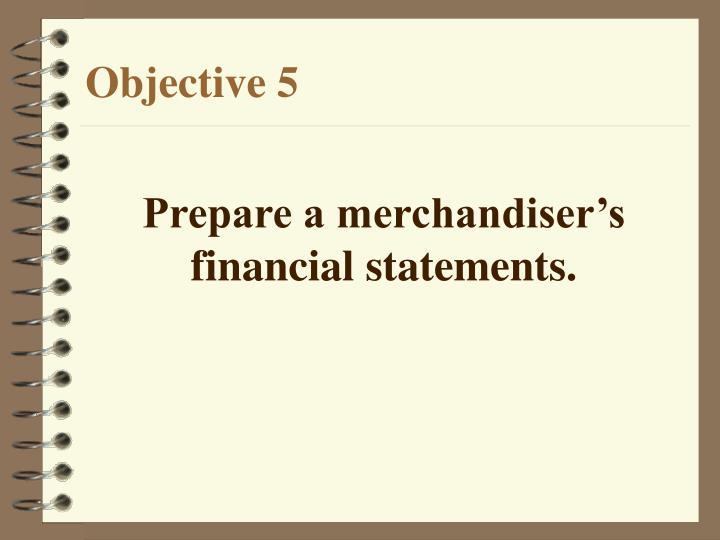 Prepare a merchandiser's