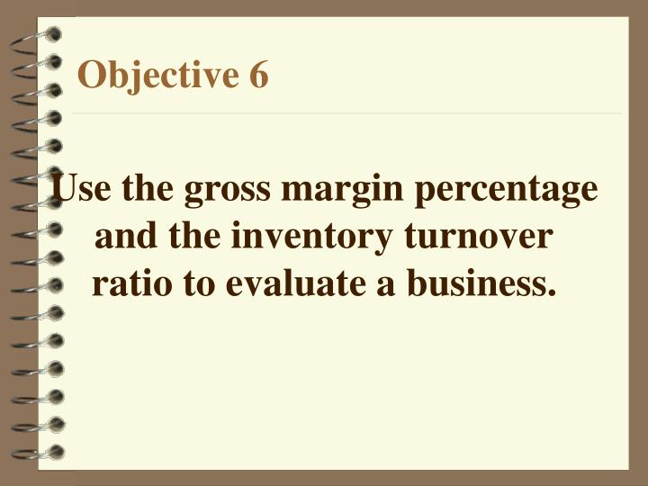Use the gross margin percentage