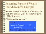 recording purchase returns and allowances example1