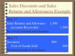 sales discounts and sales returns and allowances example1