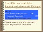 sales discounts and sales returns and allowances example2