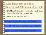sales discounts and sales returns and allowances example3