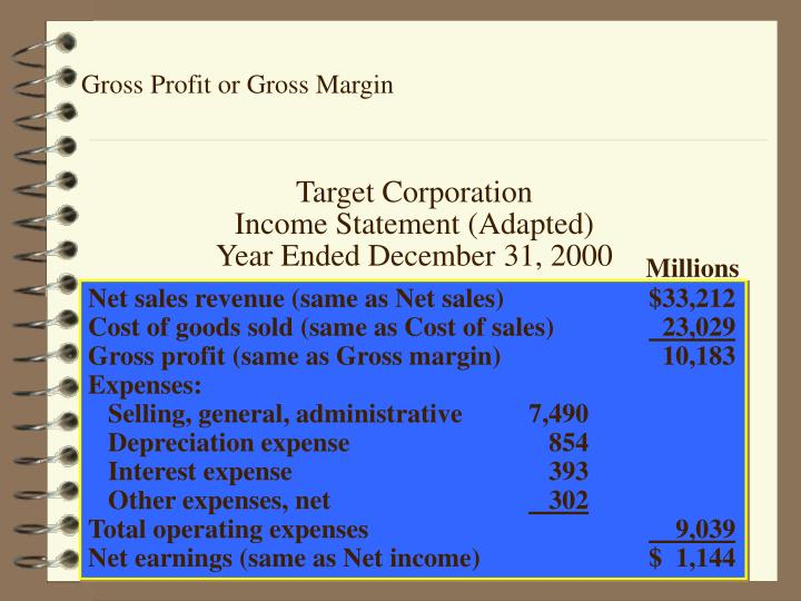 Gross Profit or Gross Margin