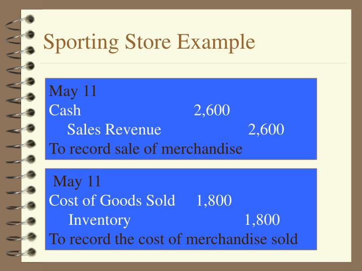 Sporting Store Example