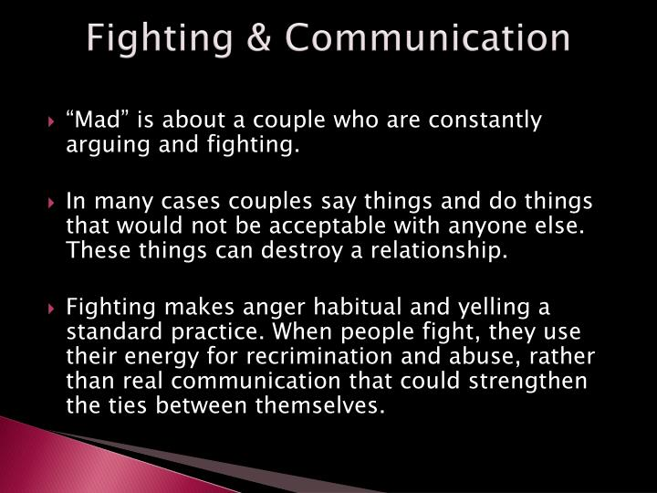 Fighting & Communication