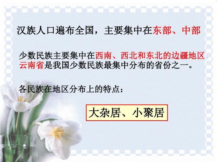 汉族人口遍布全国,主要集中在