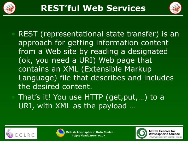 REST'ful Web Services