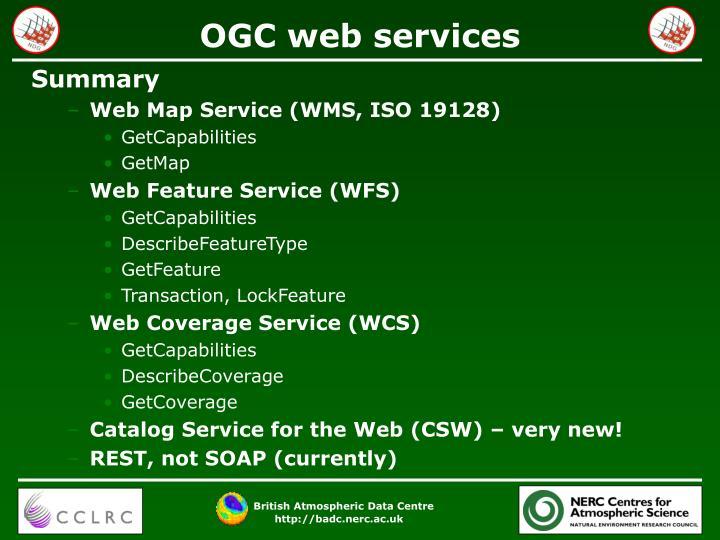 OGC web services