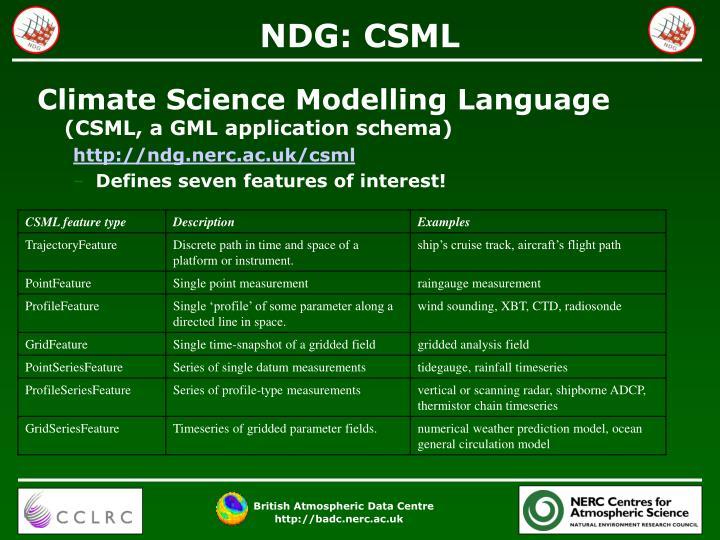 NDG: CSML