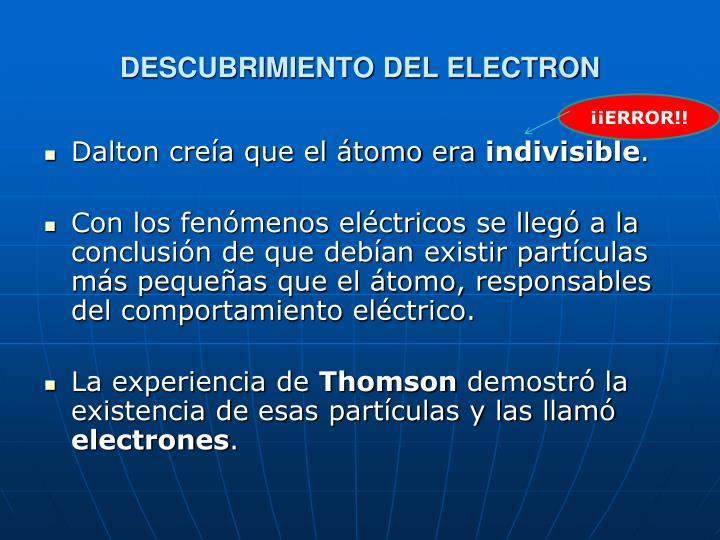 DESCUBRIMIENTO DEL ELECTRON