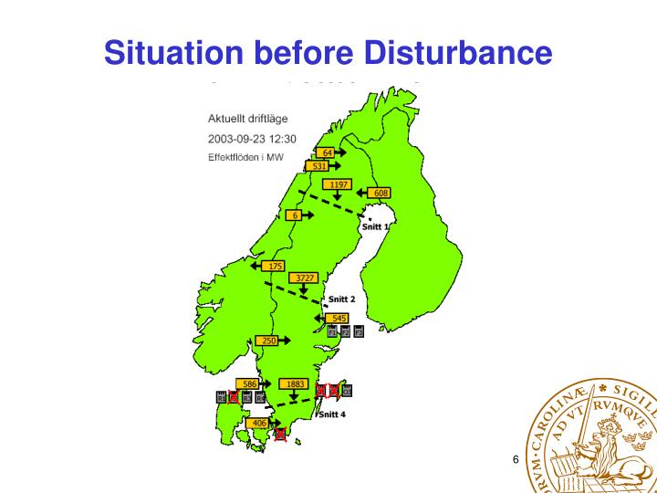 Situation before Disturbance