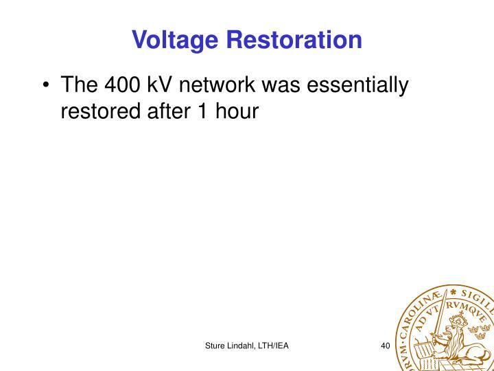 Voltage Restoration