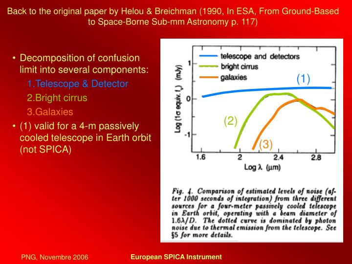 Back to the original paper by Helou & Breichman (1990, In ESA, From Ground-Based to Space-Borne Sub-mm Astronomy p. 117)