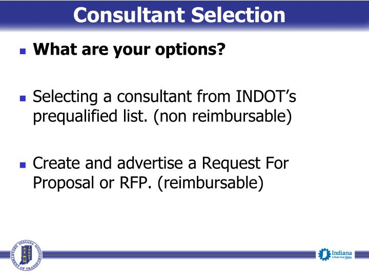 Consultant Selection