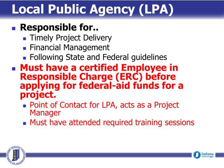 Local Public Agency (LPA)