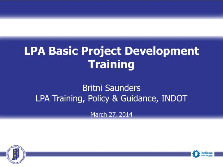 LPA Basic Project Development Training