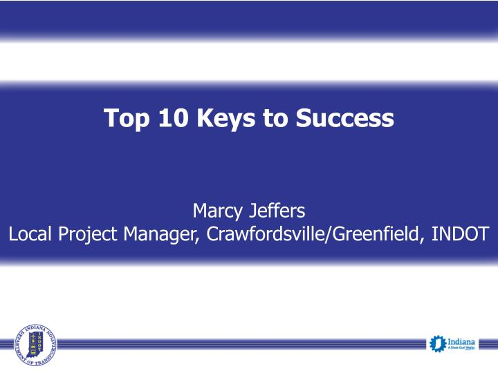 Top 10 Keys to Success