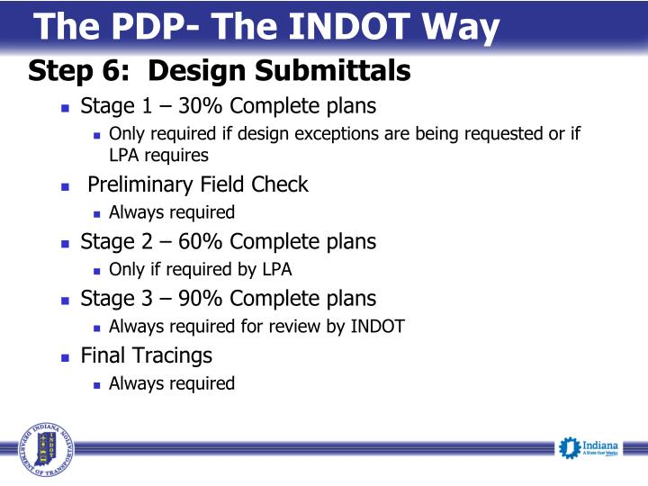 The PDP- The INDOT Way