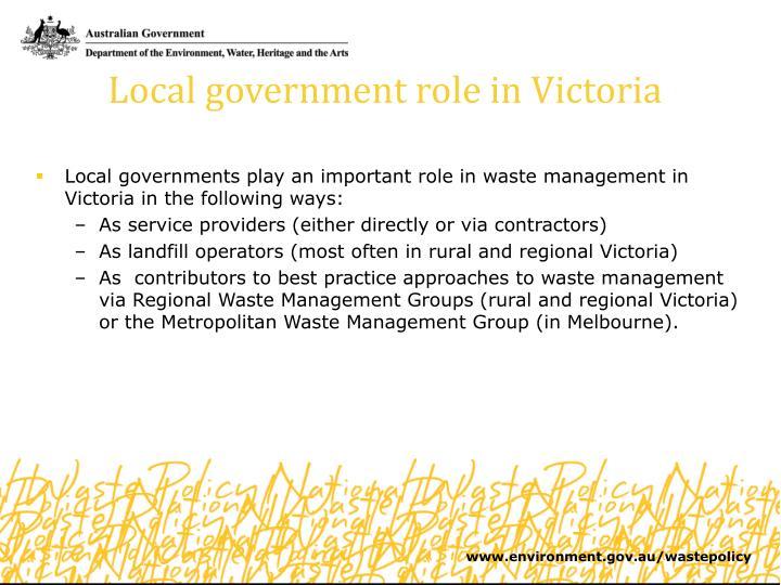 Local government role in Victoria