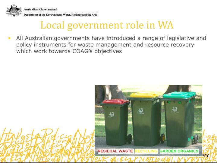 Local government role in WA
