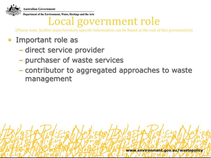 Local government role