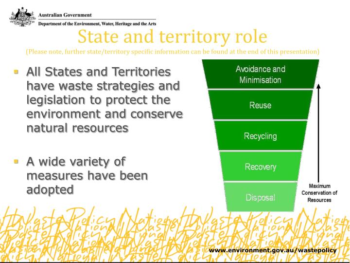 State and territory role