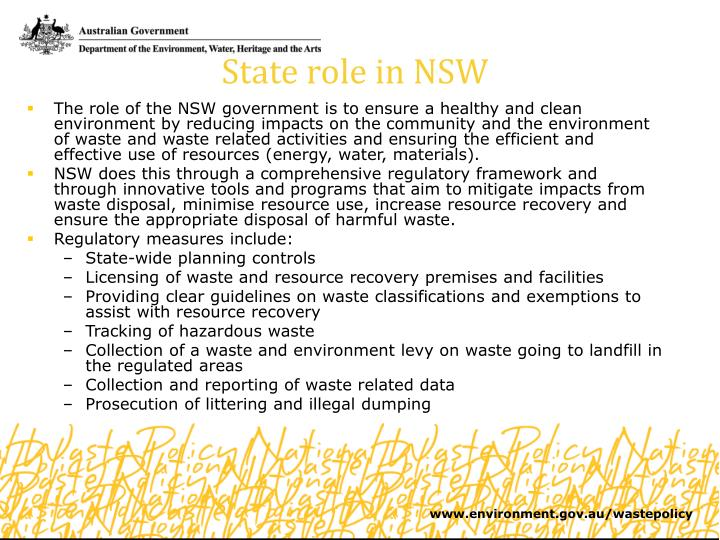State role in NSW
