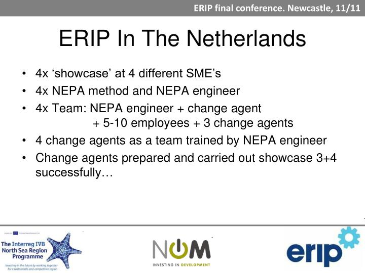 ERIP In The Netherlands