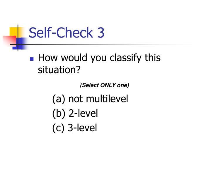 Self-Check 3