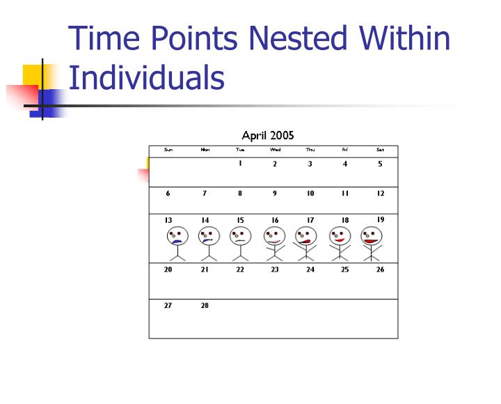 Time Points Nested Within Individuals