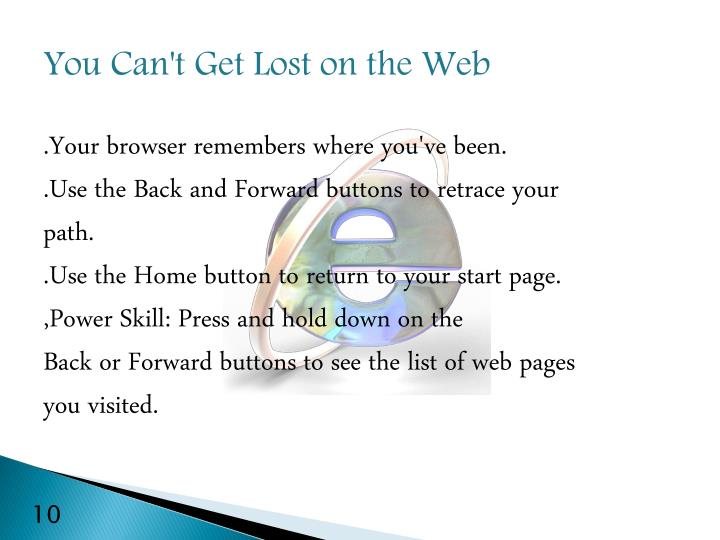 You Can't Get Lost on the Web