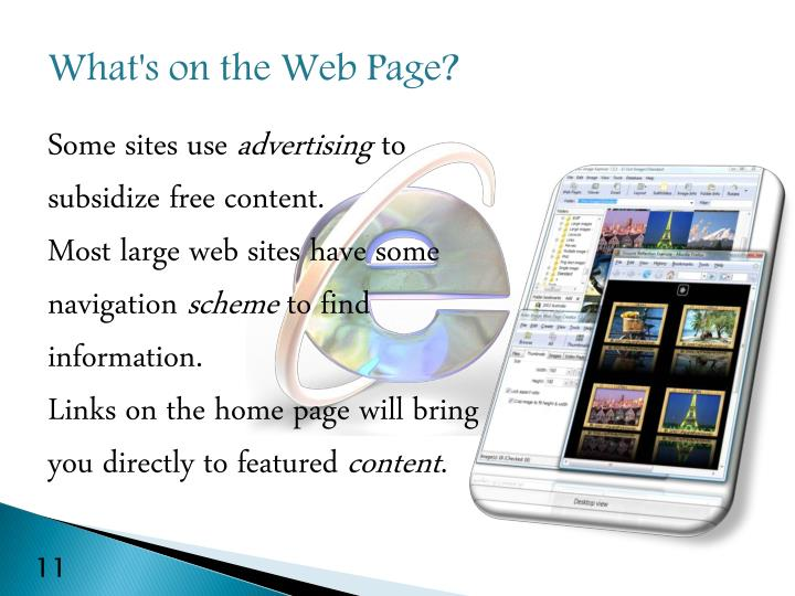 What's on the Web Page?