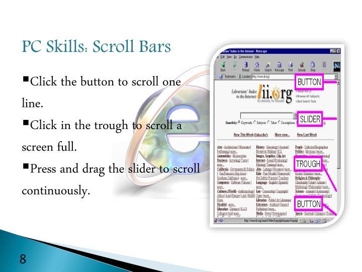 PC Skills: Scroll Bars