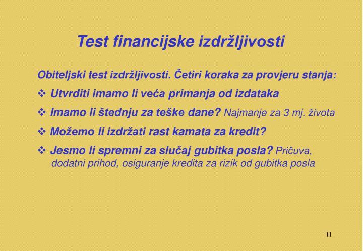 Test financijske izdržljivosti