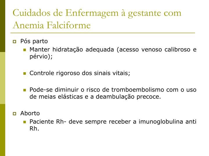 Cuidados de Enfermagem à gestante com Anemia Falciforme