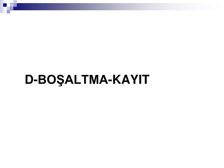 D-BOALTMA-KAYIT