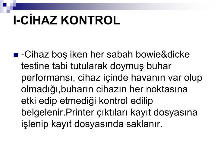 I-CHAZ KONTROL