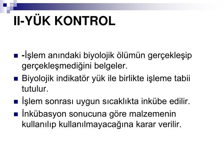 II-YK KONTROL