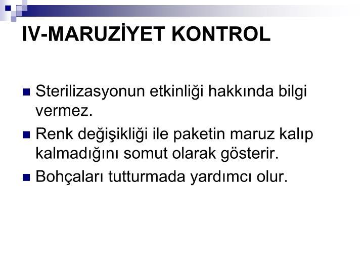 IV-MARUZYET KONTROL
