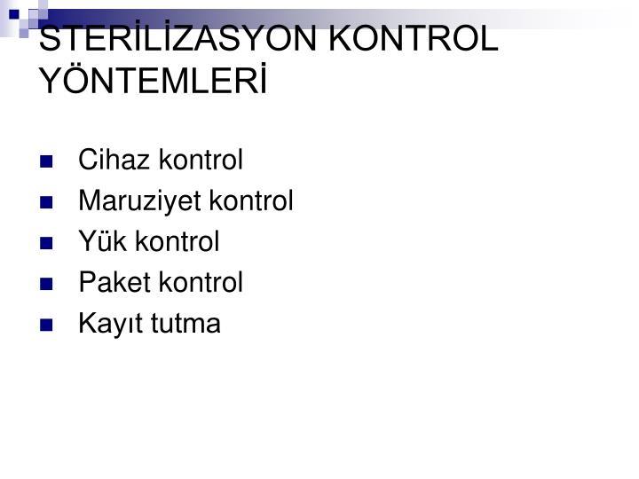 STERLZASYON KONTROL