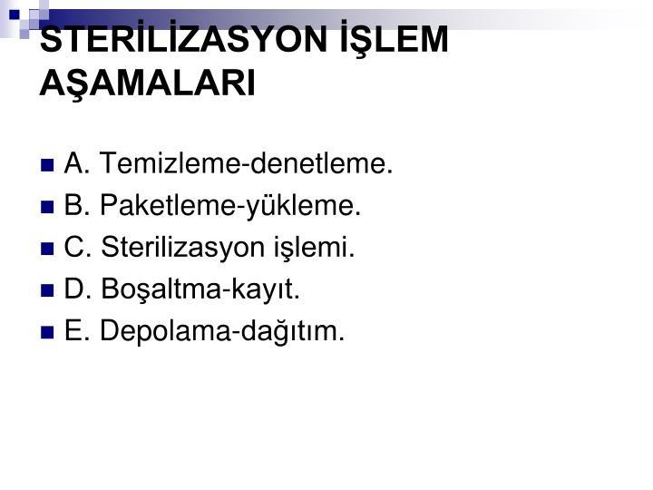 STERLZASYON LEM AAMALARI