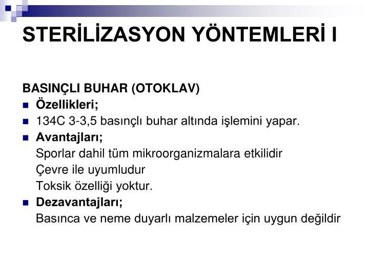 STERLZASYON YNTEMLER I