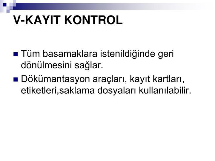 V-KAYIT KONTROL