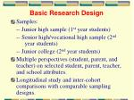 basic research design